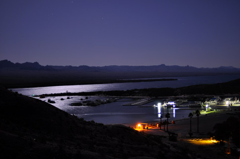 Camping at Cottonwood Cove, NV   Lake Mead in the background